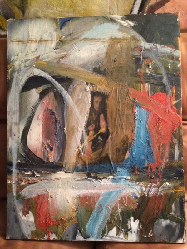 Untitled Abstract Painting 1986 54x65 By William Quigley