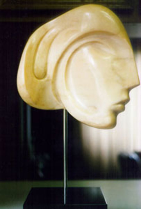 Viennese Beauty Pink Unique Marble Sculpture 1984 24 in