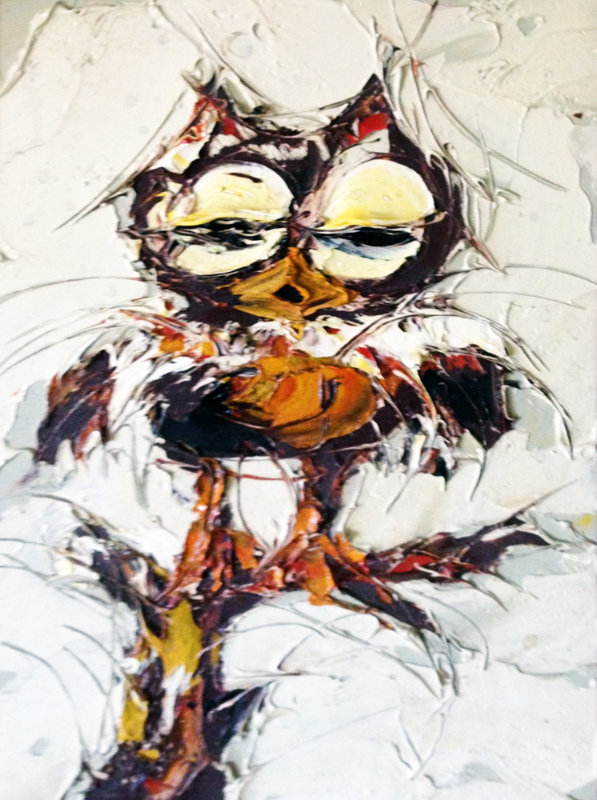 This Looks Like a Girl Owl to Me 1972 17x21