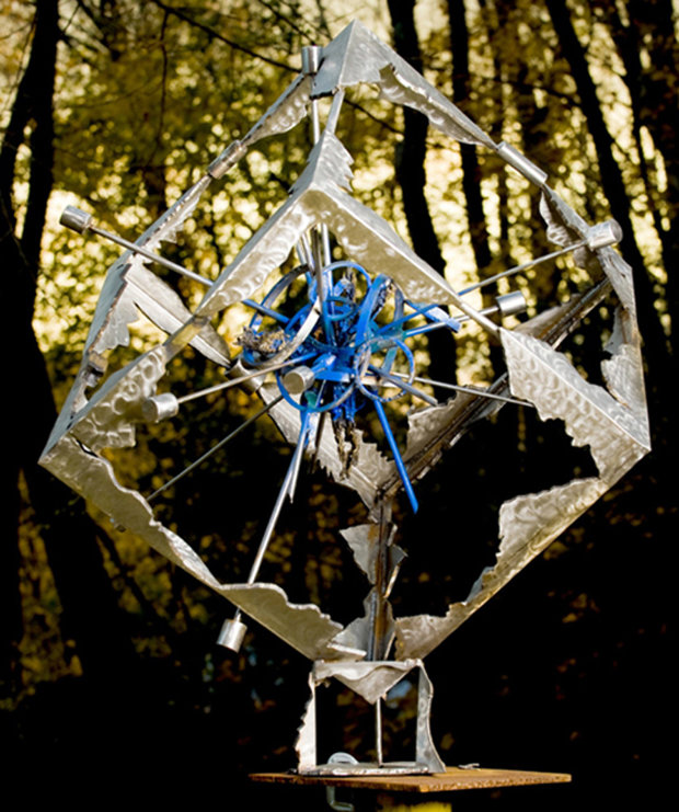 Blue Explosion (From Meteorite Series) Bronze Sculpture 2008 42x42x36