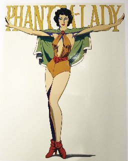 Phantom Lady (White) Limited Edition Print - Melvin John Ramos