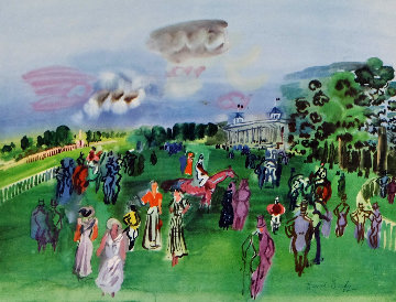 Chantilly 24x20 Watercolor - Raoul Dufy
