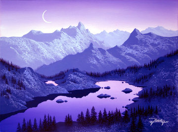 Reflections of Purple 2007 Limited Edition Print - Jon Rattenbury