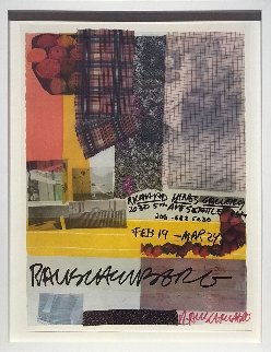 Richard Hines Gallery, Seattle 1979 HS Limited Edition Print - Robert Rauschenberg