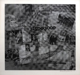 Surface Series From Currents #42 Tp 1970 Limited Edition Print - Robert Rauschenberg