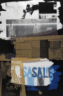 Fence - 1992 Limited Edition Print - Robert Rauschenberg