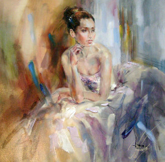 Soft As Silk 2009 Embellished  Limited Edition Print - Anna Razumovskaya
