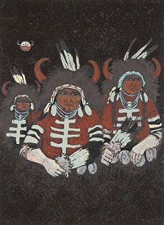 Northern Plains Buffalo Dancers 1980 Limited Edition Print - Kevin Redstar