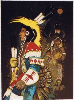 Crow Dancers At Midnight 1982 Limited Edition Print - Kevin Redstar