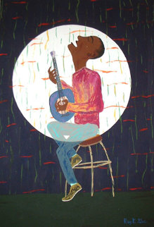 Mnlumbwe: Live At The Enthusium 36x24 Original Painting - Reginald K. Gee