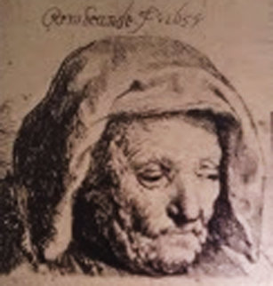 Rembrandts Mother Looking Down   B351  Limited Edition Print -  Rembrandt