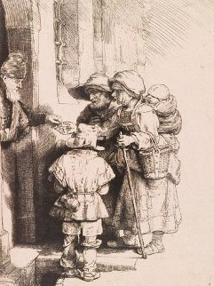 Alms Giver Limited Edition Print -  Rembrandt