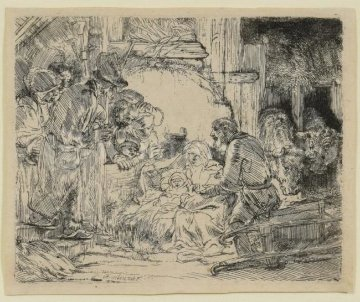 Adoration of the Shepherds Other -  Rembrandt