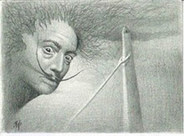 Lost in Buenos Aires, Salvador Dali 2008 Portrait Drawing Drawing -  Remo
