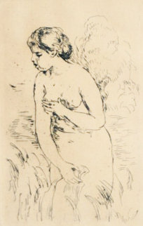 Baigneuse Debout, a Mis Jambes 1910 Limited Edition Print - Pierre Auguste Renoir