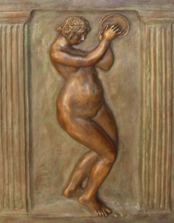 Dancer With Tambourine II Bronze Bas Relief Sculpture 26 in Sculpture - Pierre Auguste Renoir