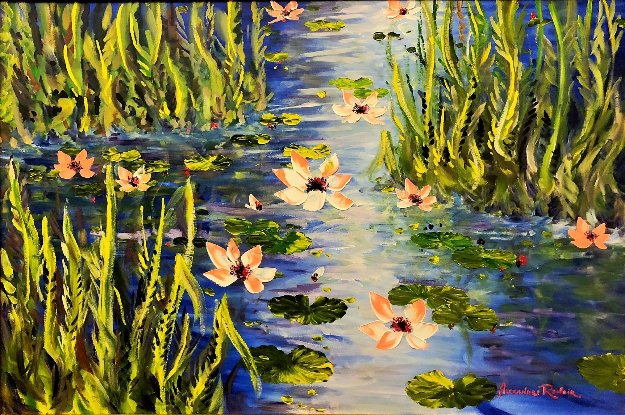 Waterlilies At Giverny 2013 46x66