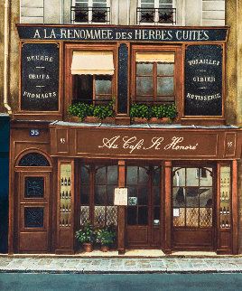 Cafe St Honore 1980 Limited Edition Print - Andre Renoux
