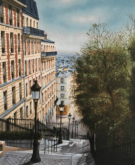 Rue Street 1990 Limited Edition Print - Andre Renoux