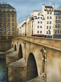 Pont Marie 1990 Limited Edition Print - Andre Renoux
