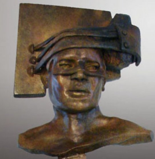 A Guarded Thought Bronze Sculpture 2011