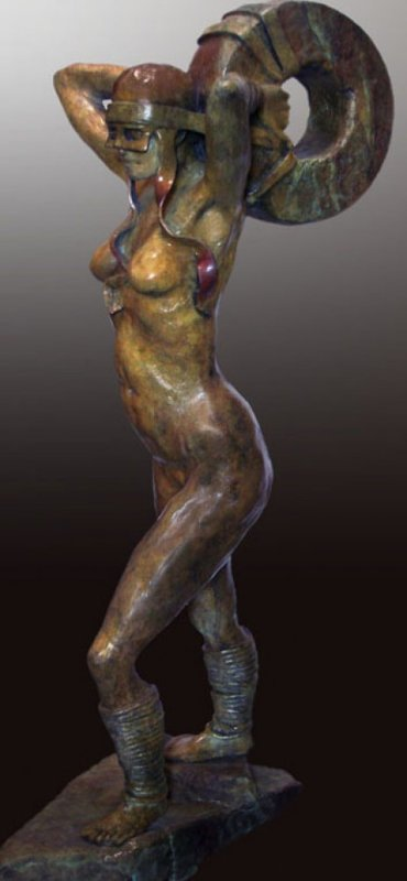 A Soft Strength Bronze Sculpture 2009  33 in