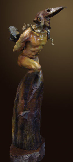 Bearing a Thought Past Bronze Sculpture 2009 31 in