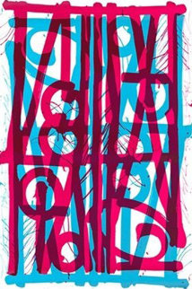 Ludavico & Ludovico (Blue  and Pink) 2018 Limited Edition Print -  RETNA