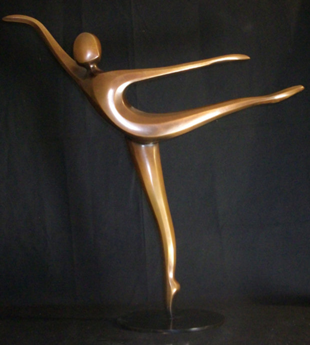 Arabesque Bronze Sculpture 2003 24 in
