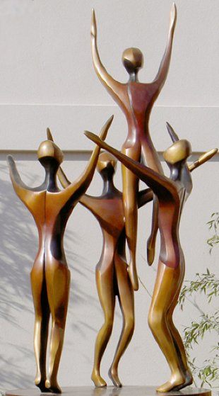 Rhapsody, 4 Life Size Figures Bronze Sculpture AP  1996 96x48 in