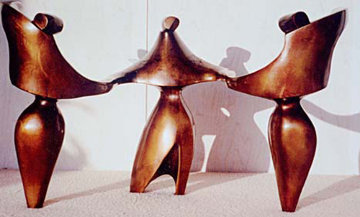 Bolero Bronze Sculpture 1990 18 in Sculpture - Robert Holmes