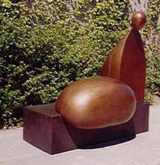 Tossa De Mar Bronze Sculpture 2005 54x42
