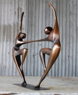 Dancers IV (Small) Bronze Sculpture 26 in Sculpture - Robert Holmes