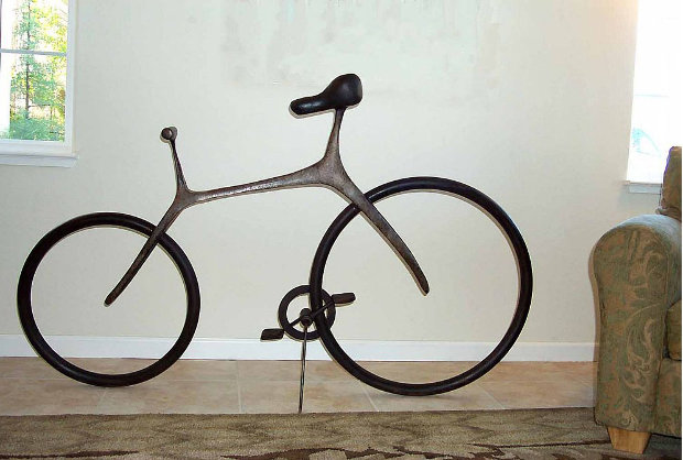 Bicycle (Large) Bronze Sculpture 68 in