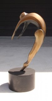 Arched Dancer Bronze Sculpture AP 16 in  Sculpture - Robert Holmes