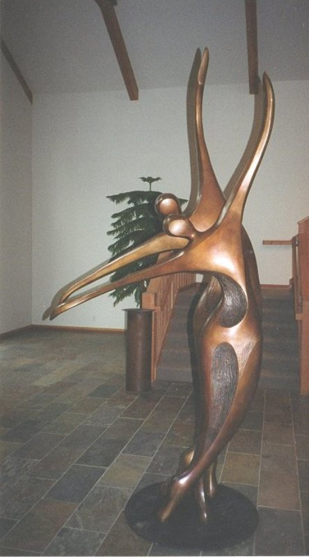 Dancers II Bronze Sculpture, 11 Ft.