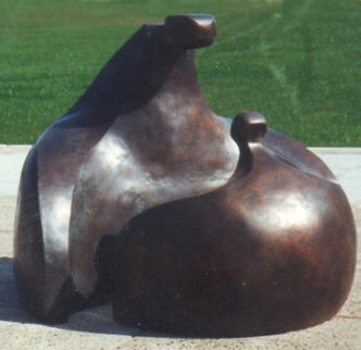 Rondelle (Monumental), Bronze Sculpture 48 High X 60 Inches Sculpture - Robert Holmes