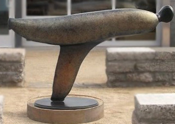 Skater (Large) Bronze Sculpture 48x84 in Sculpture - Robert Holmes