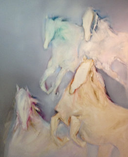 Pegasus 1989 64x74 Original Painting - Jean Richardson