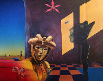 Golden Mask 1991 47x57 Original Painting - Rick Garcia