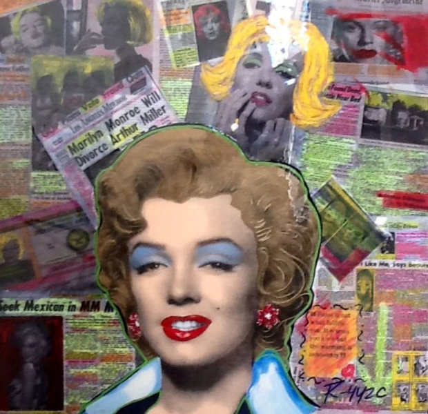 Headlines - Marilyn Collage Unique 24x23