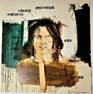 Parts of the Face: French Vocabulary Lesson - Studio Proof 1991 Works on Paper (not prints) - Larry Rivers