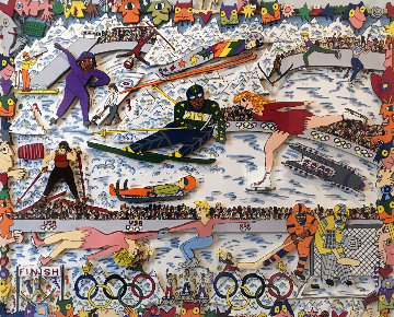 Nagano in '98 3-D Japan Limited Edition Print - James Rizzi