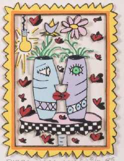 Kiss Kiss 3-D 1985 Limited Edition Print - James Rizzi