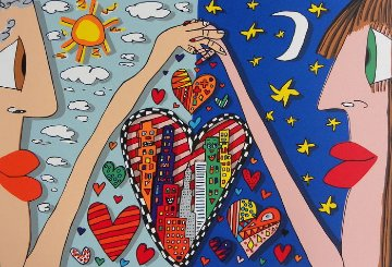 Love Is in the Air   3-D AP 1989 Limited Edition Print - James Rizzi