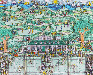 Lets All Meet At Daddy's Club (Tennis) 3-D 1995 Limited Edition Print - James Rizzi