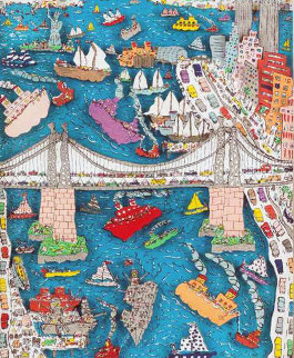 Brooklyn Bridge AP 3-D 1982 Limited Edition Print - James Rizzi