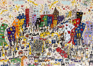 East Side Westside Upside And Down 1978 Limited Edition Print - James Rizzi