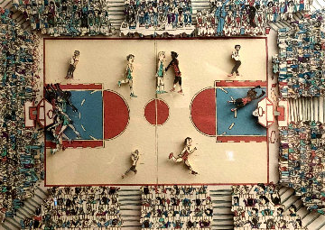 Basketball 1983 3-D Limited Edition Print - James Rizzi