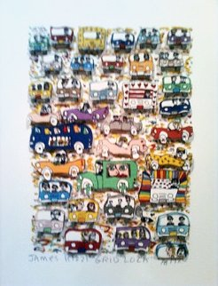 Gridlock 3-D 1982 Limited Edition Print - James Rizzi